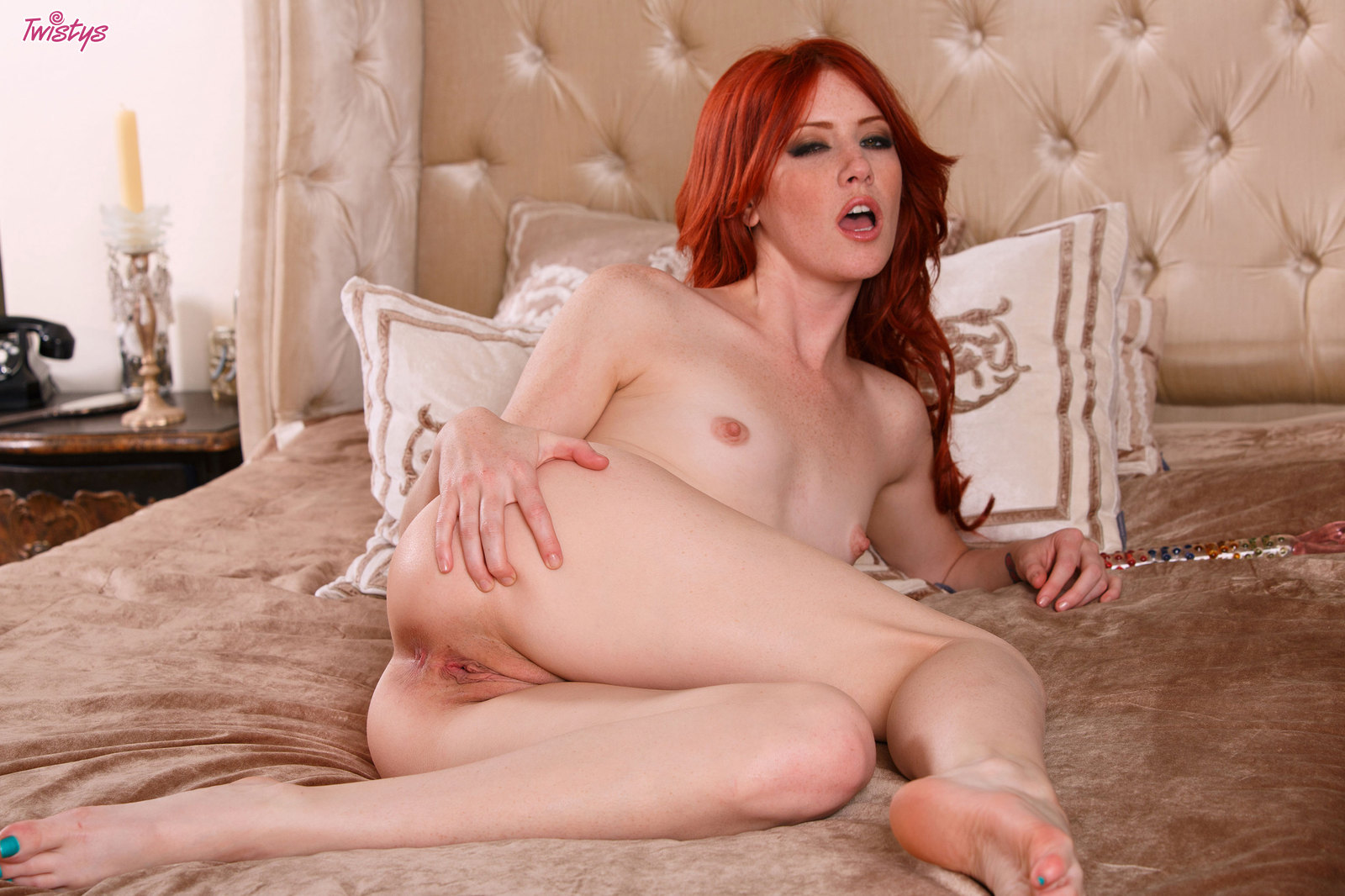 elle alexandra takes her favorite toy and plays with it